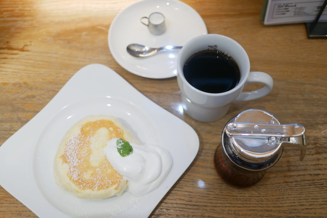 むさしの森珈琲 岐阜カフェ 柳津 パンケーキ ロコモコ ランチ