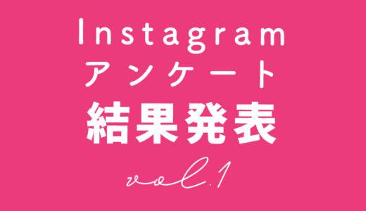 インスタ【アンケート結果】はっぴょ〜!!vol.1
