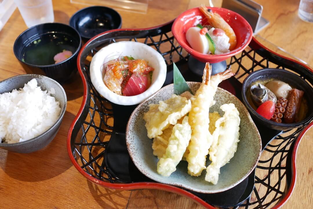 おさかな舎 岐阜ランチ グルメ 海津市 和食 天ぷら 海鮮