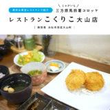 レストランこくりこ大山店 浜松カフェ 三方原馬鈴薯じゃがいもコロッケ 満天☆青空レストラン