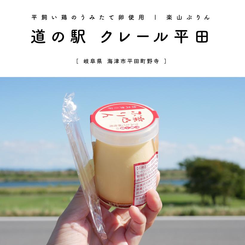 道の駅 クレール平田 楽山プリン テイクアウト 岐阜